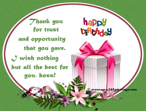 Best ideas about Birthday Wishes For Your Boss . Save or Pin Birthday Wishes For Boss 365greetings Now.