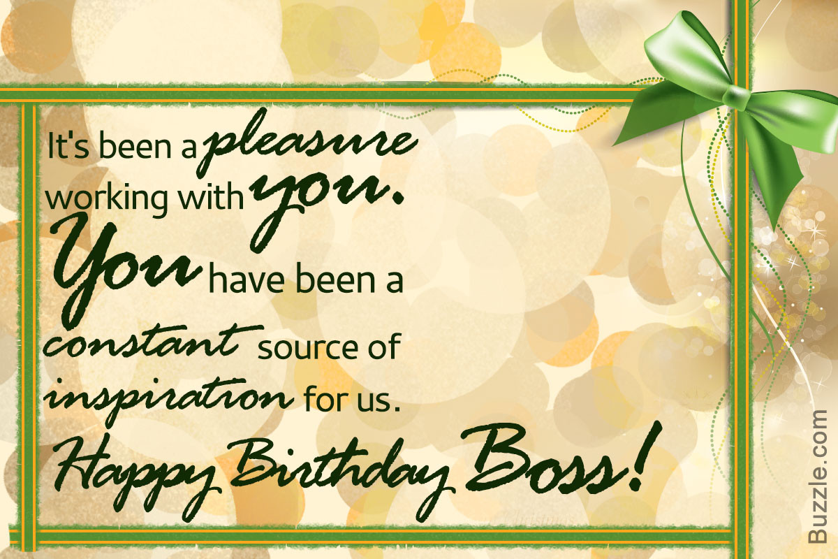 Best ideas about Birthday Wishes For Your Boss . Save or Pin Birthday Wishes for Your Boss to Make Him Feel Happy and Now.