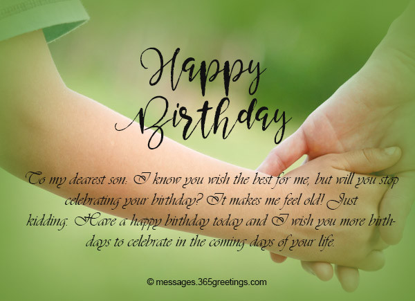 Best ideas about Birthday Wishes From Mom To Son . Save or Pin Birthday Wishes for Son 365greetings Now.