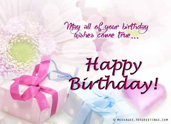 Best ideas about Birthday Wishes Images . Save or Pin Messages Wishes and Quotes 365greetings Now.