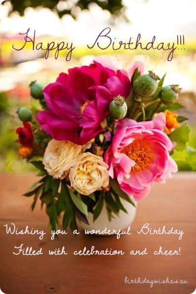 Best ideas about Birthday Wishes Images . Save or Pin birthday wishes with peonies Now.