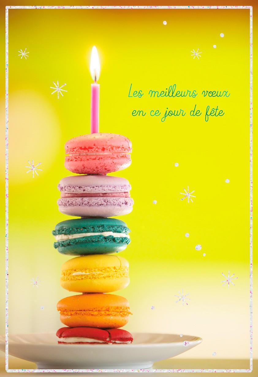 Best ideas about Birthday Wishes In French . Save or Pin Macarons French Language Birthday Card Greeting Cards Now.