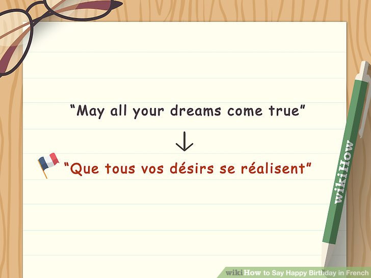 Best ideas about Birthday Wishes In French . Save or Pin 4 Ways to Say Happy Birthday in French wikiHow Now.