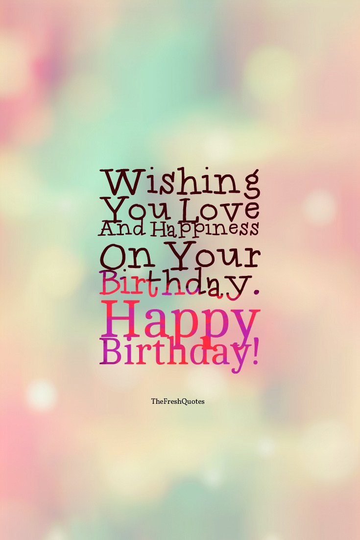 Best ideas about Birthday Wishes Messages . Save or Pin 60 Happy Birthday Wishes Messages and Status — TheFreshQuotes Now.
