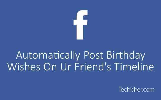 Best ideas about Birthday Wishes On Facebook Timeline . Save or Pin Automatically Post Birthday Wishes your Now.