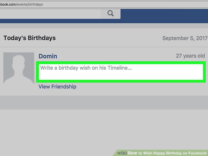 Best ideas about Birthday Wishes On Facebook Timeline . Save or Pin 3 Ways to Wish Happy Birthday on wikiHow Now.