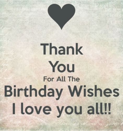 Best ideas about Birthday Wishes Reply . Save or Pin Thanking for birthday wishes reply birthday thank you Now.