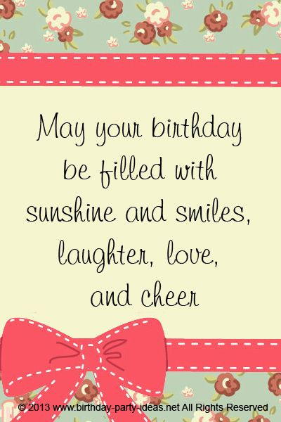Best ideas about Birthday Wishes Sayings . Save or Pin May your birthday be filled with sunshine and smiles Now.
