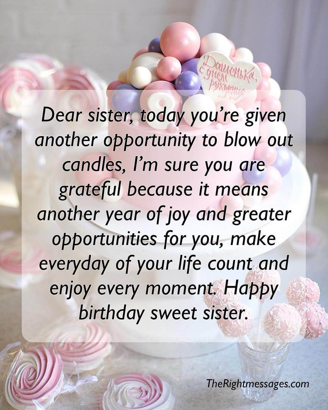 Best ideas about Birthday Wishes Sister . Save or Pin Short And Long Birthday Messages Wishes & Quotes For Now.