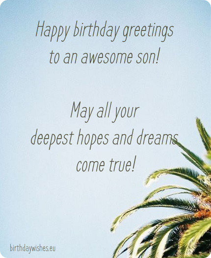 Best ideas about Birthday Wishes Son . Save or Pin Happy Birthday Son Now.