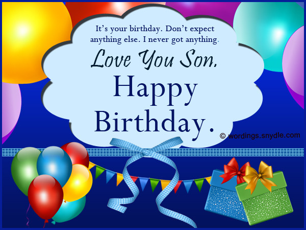 Best ideas about Birthday Wishes Son . Save or Pin Birthday Wishes for Son Wordings and Messages Now.