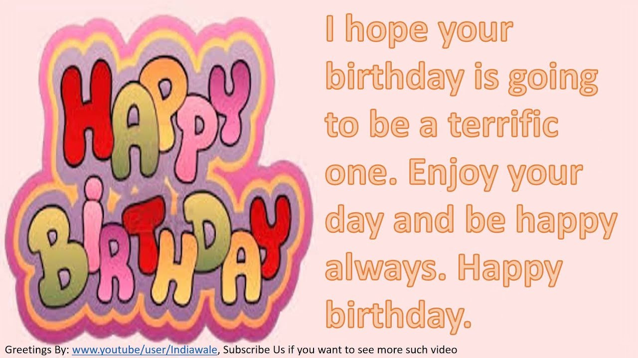 Best ideas about Birthday Wishes Text . Save or Pin Happy birthday wishes to friend SMS message Greetings Now.