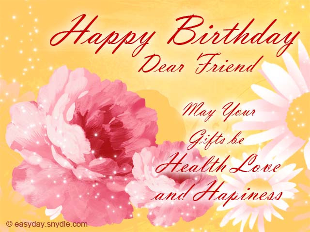 Best ideas about Birthday Wishes To A Best Friend . Save or Pin Birthday Wishes for Friend Easyday Now.