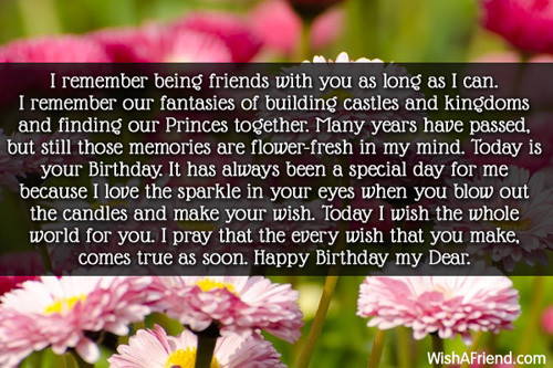 Best ideas about Birthday Wishes To A Best Friend . Save or Pin Long Time Friend Birthday Quotes QuotesGram Now.