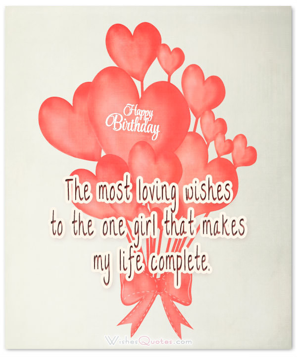 Best ideas about Birthday Wishes To Girlfriend . Save or Pin Heartfelt Birthday Wishes for your Girlfriend – WishesQuotes Now.