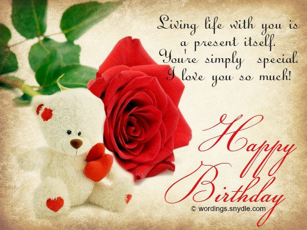Best ideas about Birthday Wishes To Girlfriend . Save or Pin Birthday Wishes for Husband Husband Birthday Messages and Now.