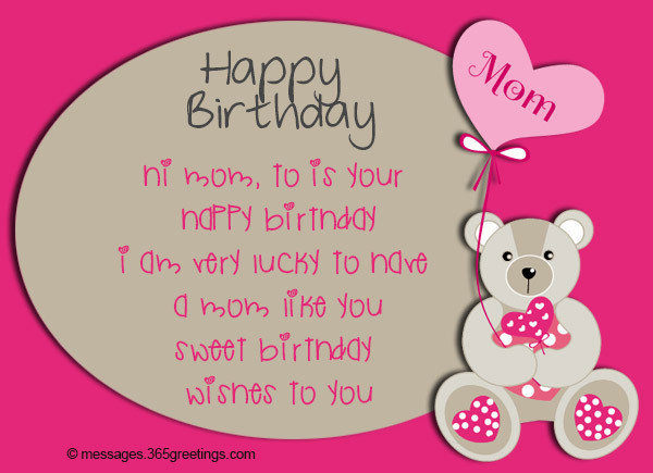 Best ideas about Birthday Wishes To Mom . Save or Pin Birthday Wishes for Mother 365greetings Now.