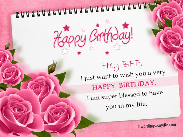 Best ideas about Birthday Wishes To My Best Friend . Save or Pin Birthday Wishes For Best Friend Forever Wordings and Now.