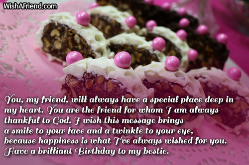 Best ideas about Birthday Wishes To My Best Friend . Save or Pin Best Friend Birthday Wishes Now.