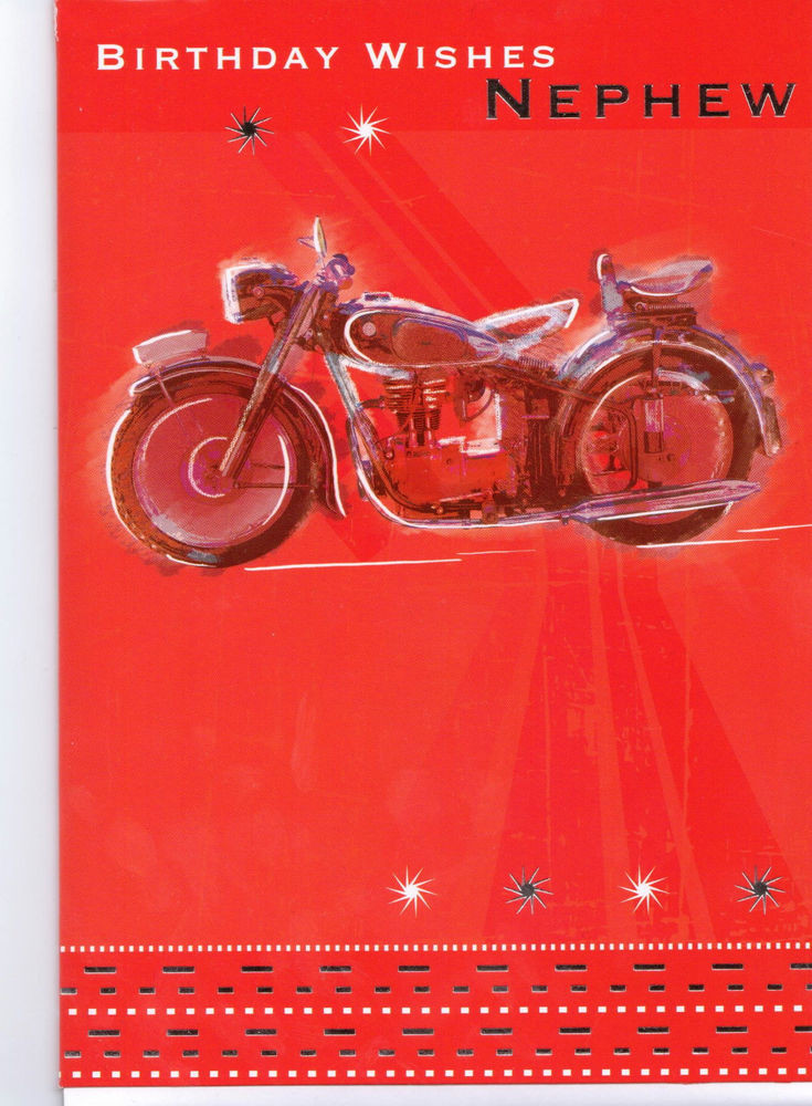 Best ideas about Birthday Wishes To Nephew . Save or Pin Birthday Wishes Nephew Card Red Motorbike Now.