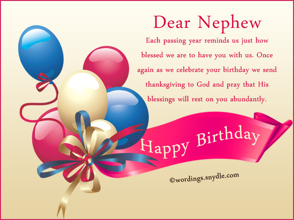 Best ideas about Birthday Wishes To Nephew . Save or Pin Nephew Birthday Messages Happy Birthday Wishes for Nephew Now.