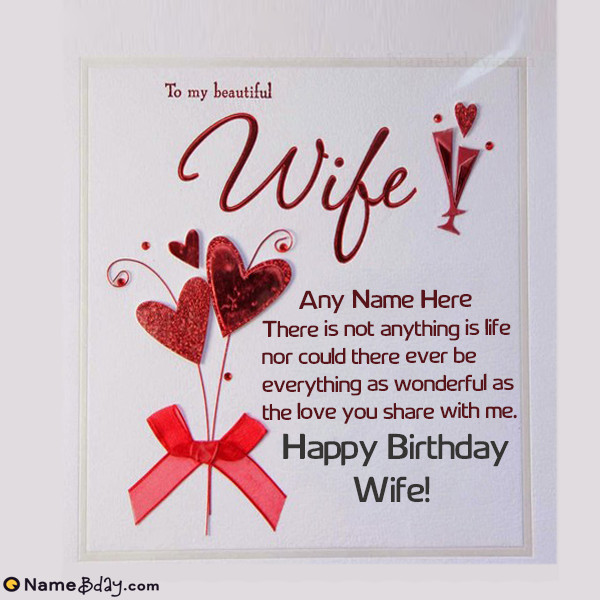 Best ideas about Birthday Wishes To Wife . Save or Pin Romantic Birthday Wishes For Wife With Her Name And Now.