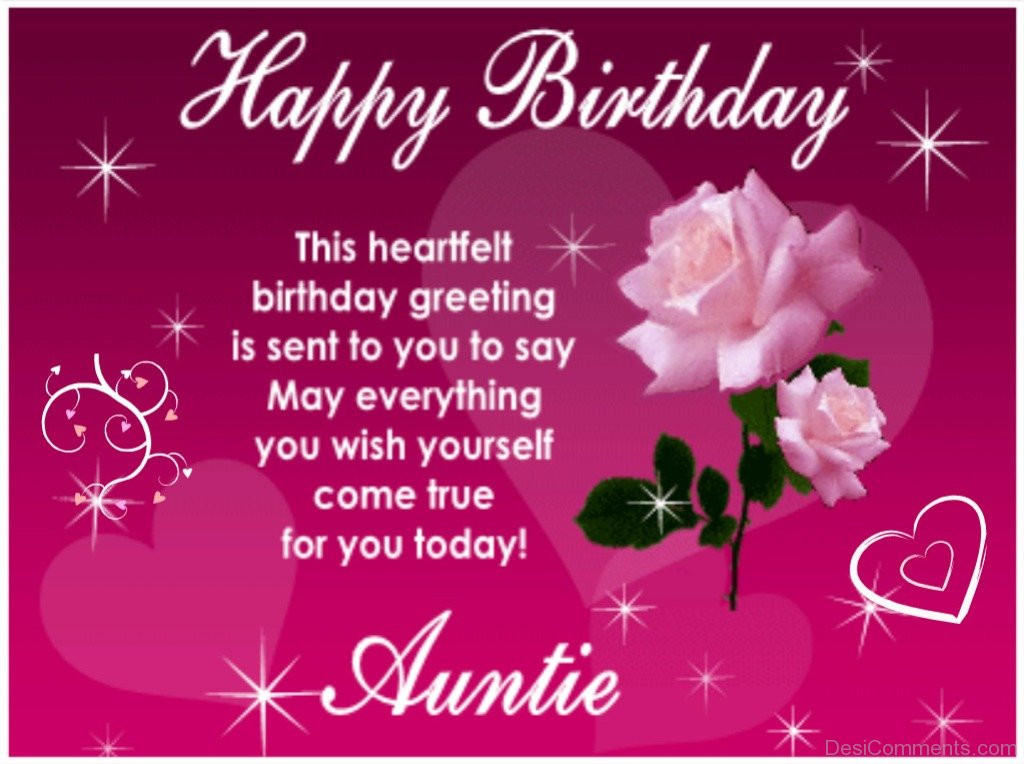 Best ideas about Birthday Wishes Words . Save or Pin Birthday Wishes for Aunt Graphics for Now.