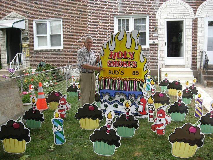 Best ideas about Birthday Yard Decorations . Save or Pin 81 best Birthday Lawn Signs images on Pinterest Now.