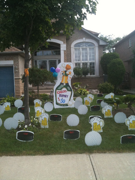 Best ideas about Birthday Yard Decorations . Save or Pin Party Lawn Decorations Now.