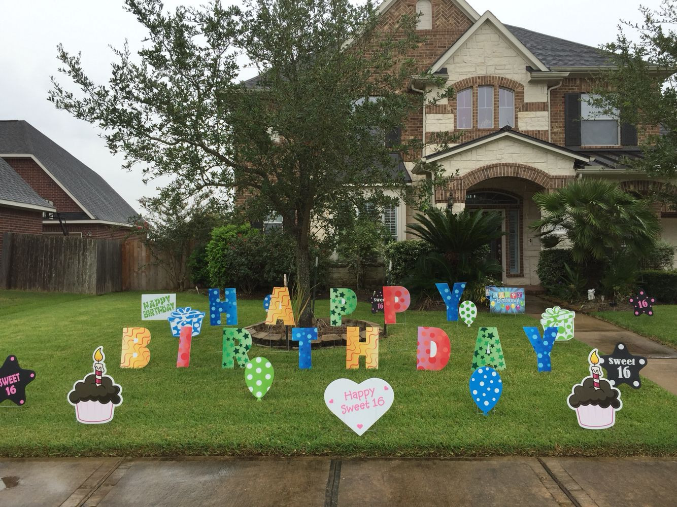 """Best ideas about Birthday Yard Decorations . Save or Pin """"Happy Birthday"""" lawn letters with other yard decor signs Now."""
