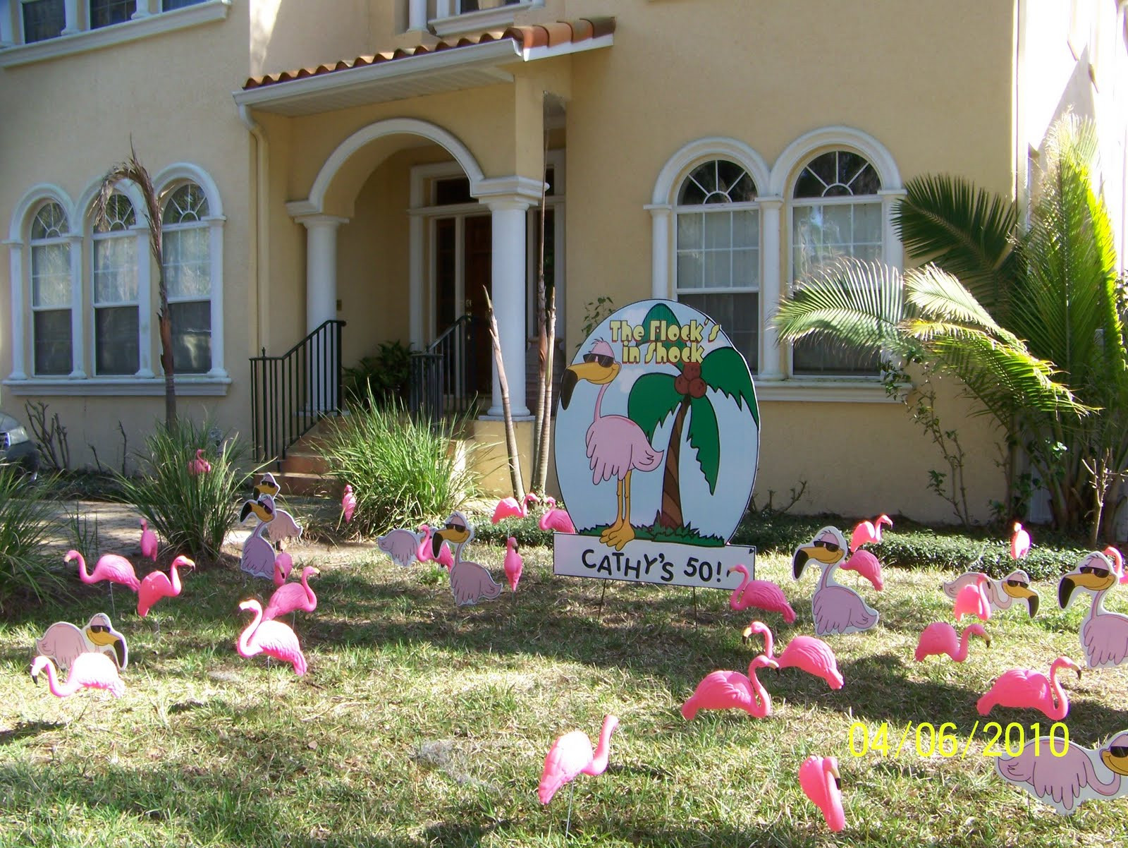 Best ideas about Birthday Yard Decorations . Save or Pin FLOCK N SURPRISE 727 687 8111 LARGO Florida Now.