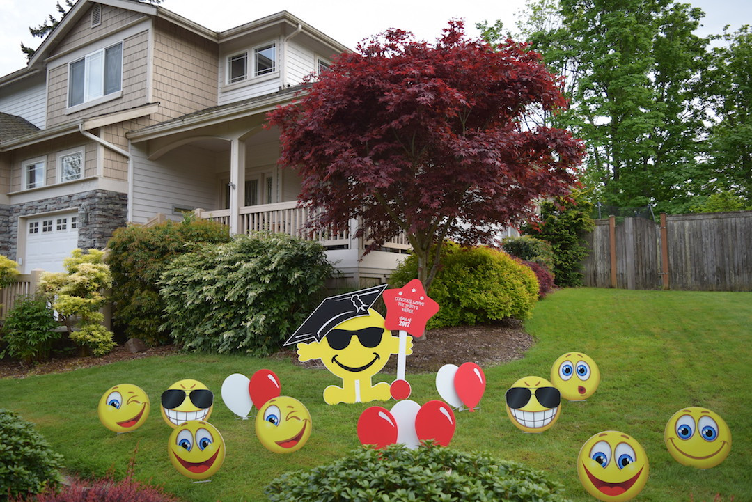 Best ideas about Birthday Yard Decorations . Save or Pin Home Yard Announcements Now.