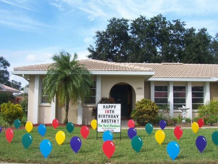 Best ideas about Birthday Yard Decorations . Save or Pin 23 best images about Lawn Event Signs on Pinterest Now.