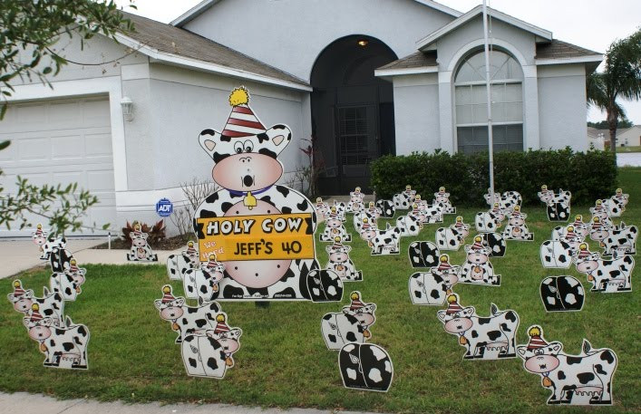 Best ideas about Birthday Yard Decorations . Save or Pin BIRTHDAY YARD FLOCKING & DECORATIONS TAMPA FL CALL Now.