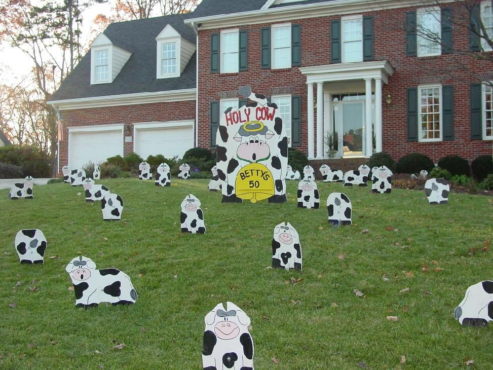 Best ideas about Birthday Yard Decorations . Save or Pin cow decor Now.