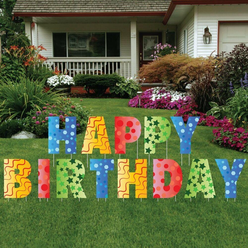 Best ideas about Birthday Yard Decorations . Save or Pin Happy Birthday Giant Art Yard Letters Surprise Decorations Now.