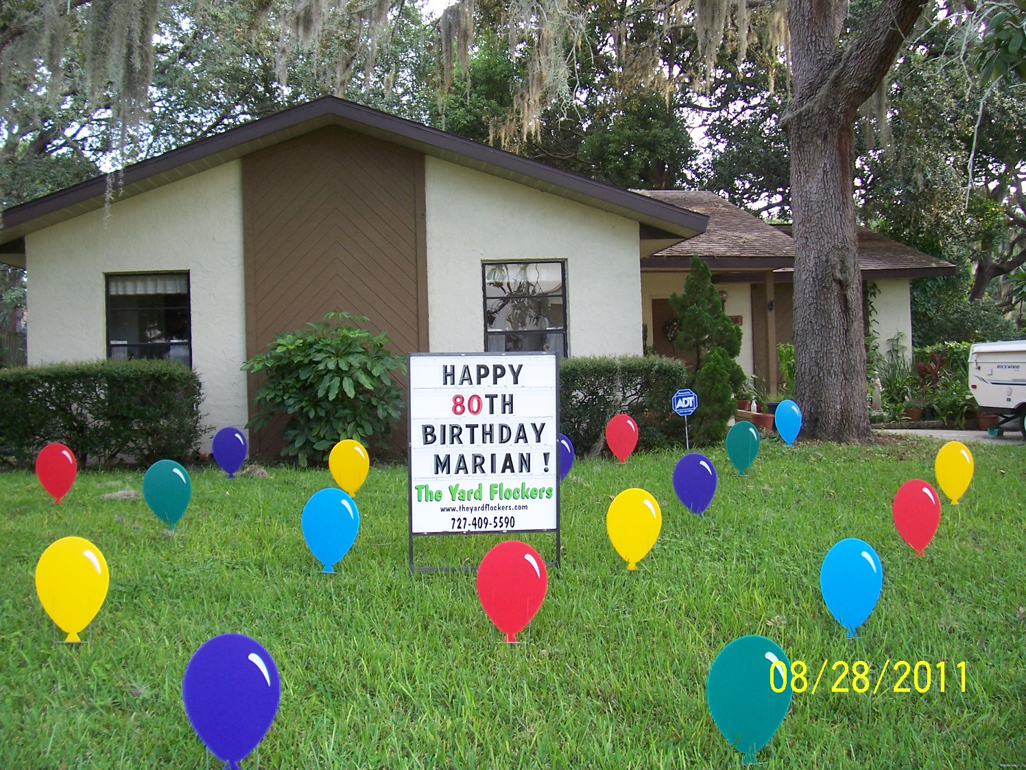 Best ideas about Birthday Yard Decorations . Save or Pin THE YARD FLOCKERS Pinellas County Fla 727 409 5590 Now.