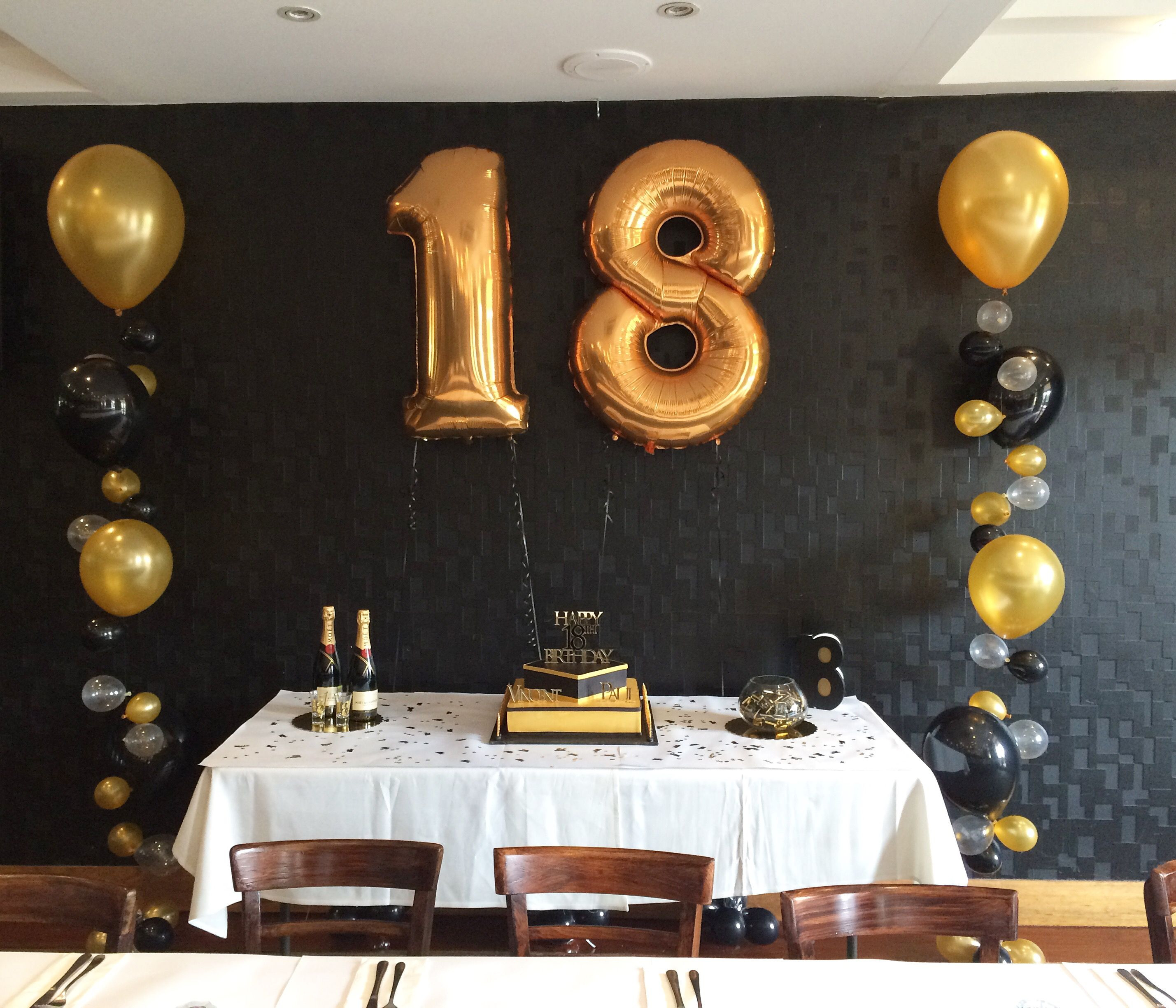 Best ideas about Black And Gold Birthday Decorations . Save or Pin Gold and black themed 18th party Now.