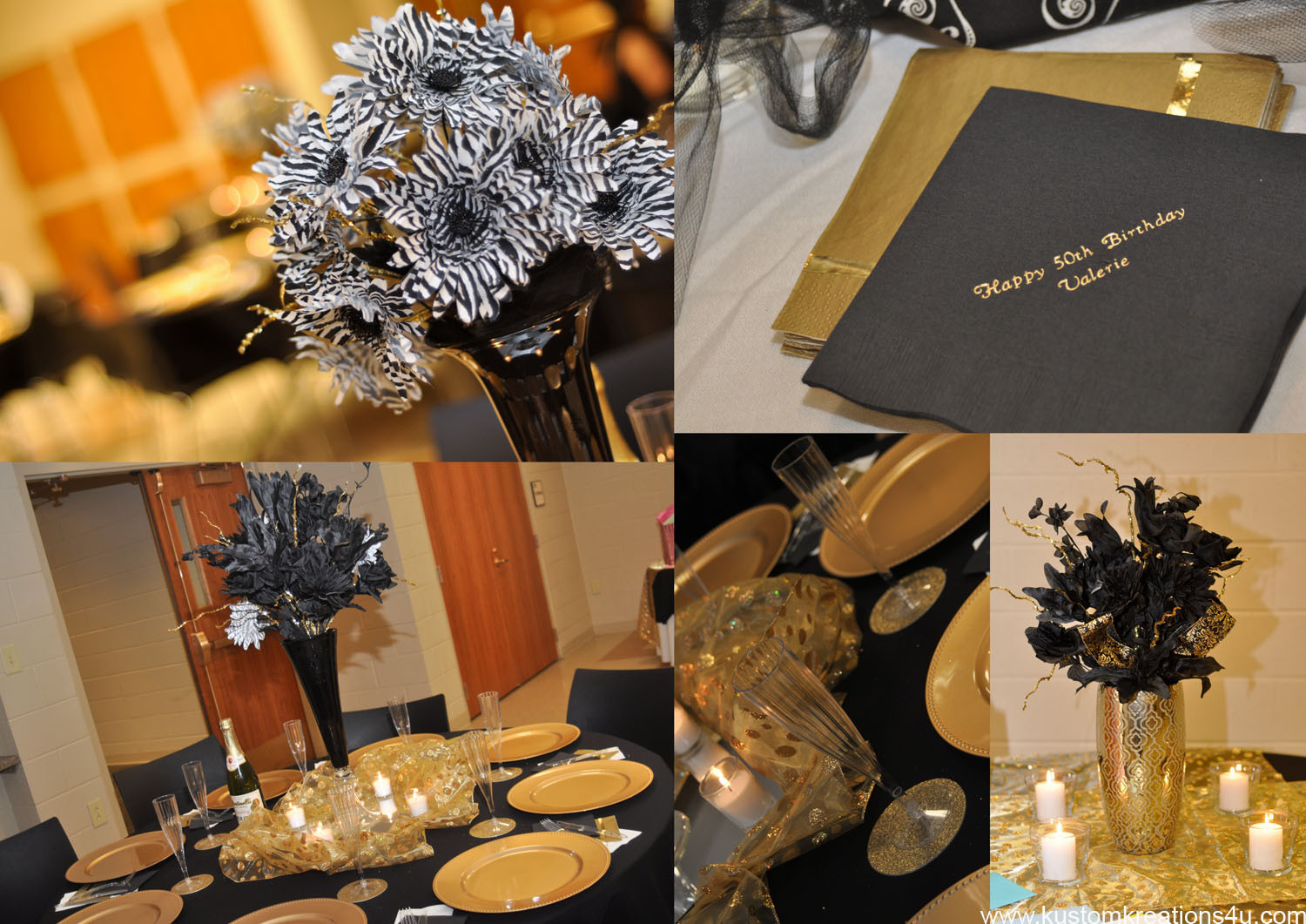 Best ideas about Black And Gold Birthday Decorations . Save or Pin Black & Gold 20's Theme 50th Birthday Celebration Now.