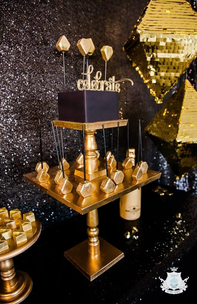 Best ideas about Black And Gold Birthday Decorations . Save or Pin 17 Best ideas about Black Gold Party on Pinterest Now.