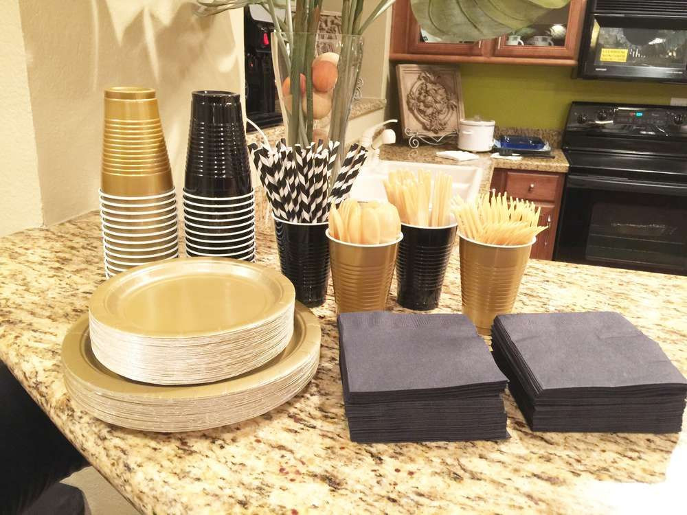 Best ideas about Black And Gold Birthday Decorations . Save or Pin black white and gold Birthday Party Ideas Now.