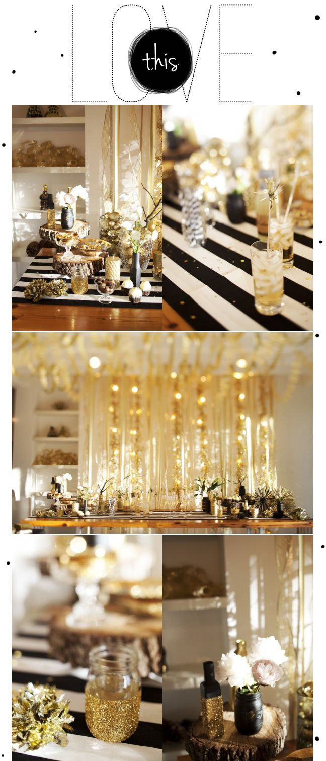 Best ideas about Black And Gold Birthday Decorations . Save or Pin All Things Lovely Midnight AND Sparkles Now.