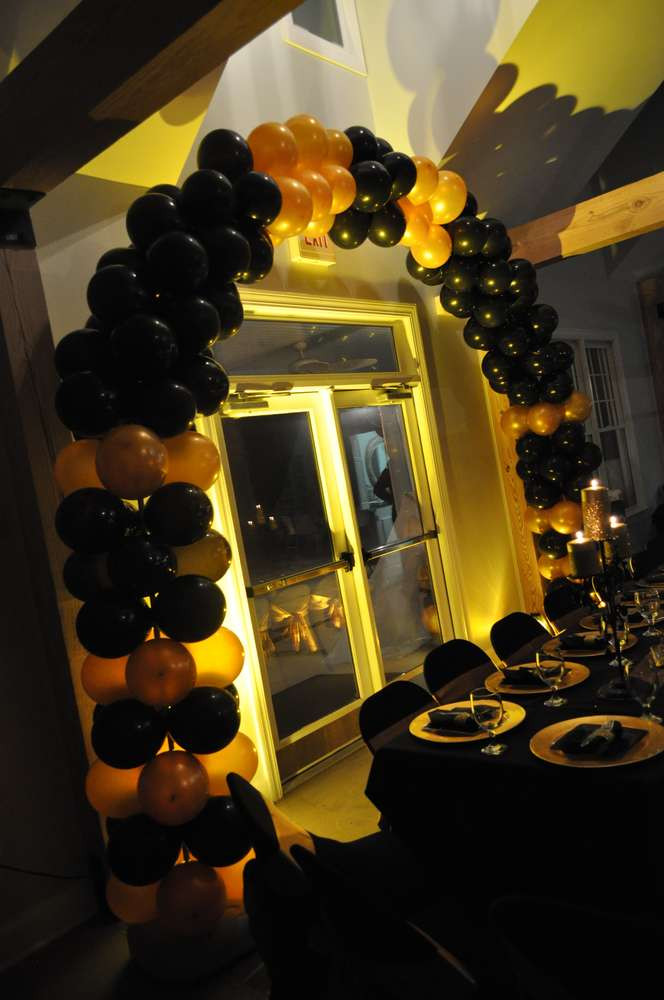 Best ideas about Black And Gold Birthday Decorations . Save or Pin Black & Gold Hollywood Birthday Party Ideas Now.