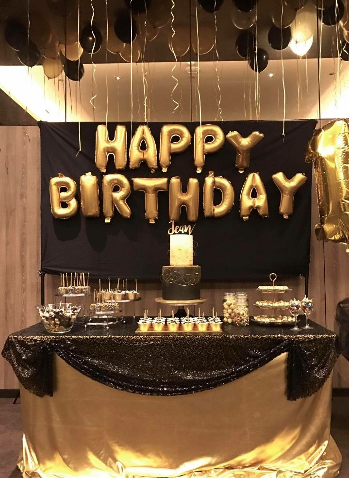 Best ideas about Black And Gold Birthday Decorations . Save or Pin 25 best ideas about Black gold party on Pinterest Now.