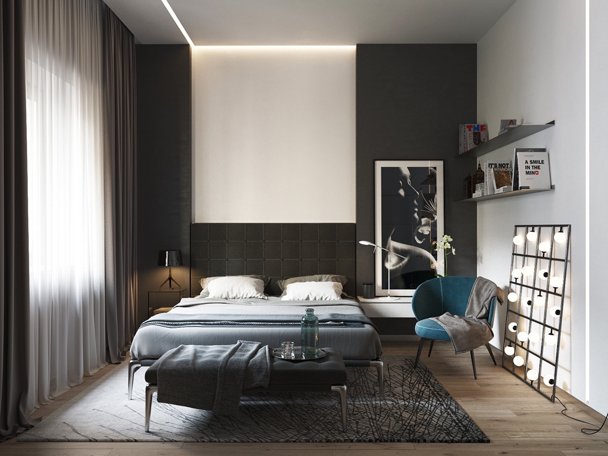 Best ideas about Black Bedroom Ideas . Save or Pin 40 Beautiful Black & White Bedroom Designs Now.