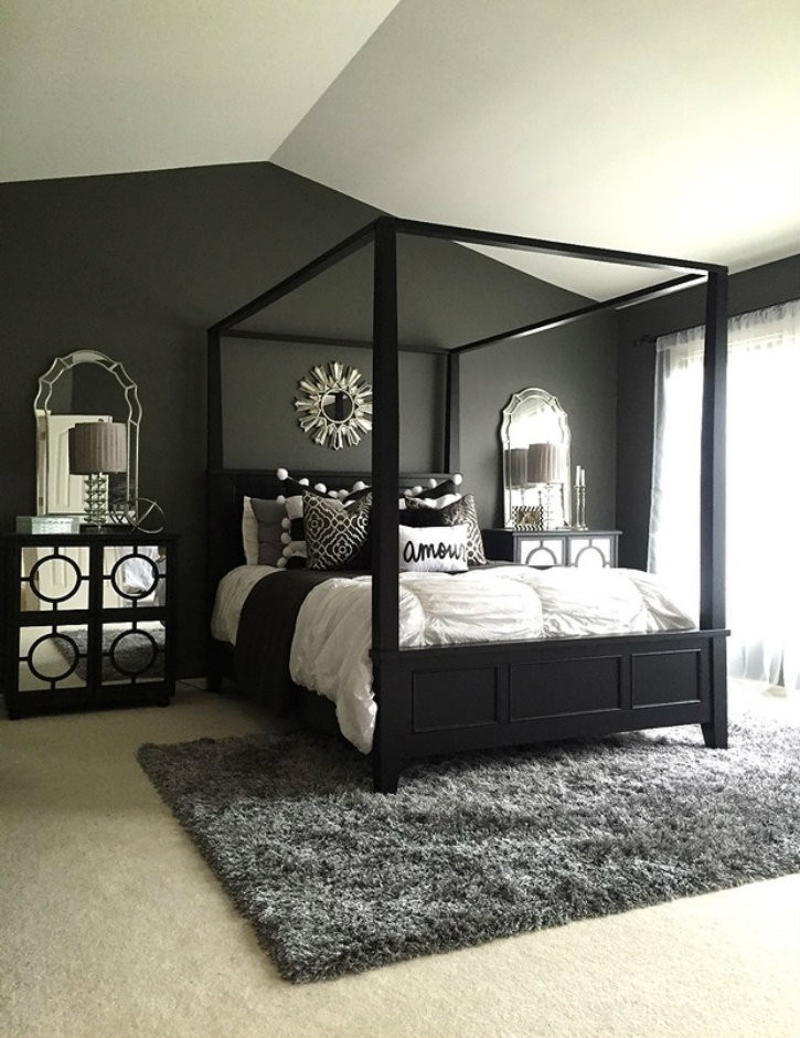 Best ideas about Black Bedroom Ideas . Save or Pin Feel dark with these black décor ideas to your master bedroom Now.