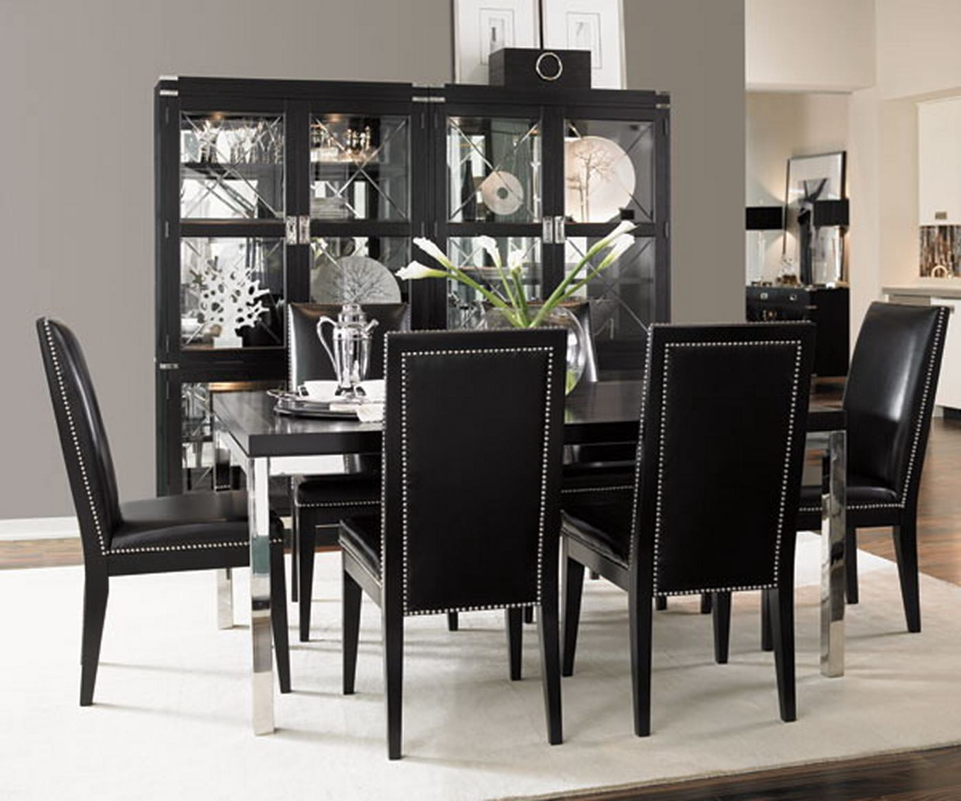Best ideas about Black Dining Room Chairs . Save or Pin Simple dining room with black table and black chairs with Now.