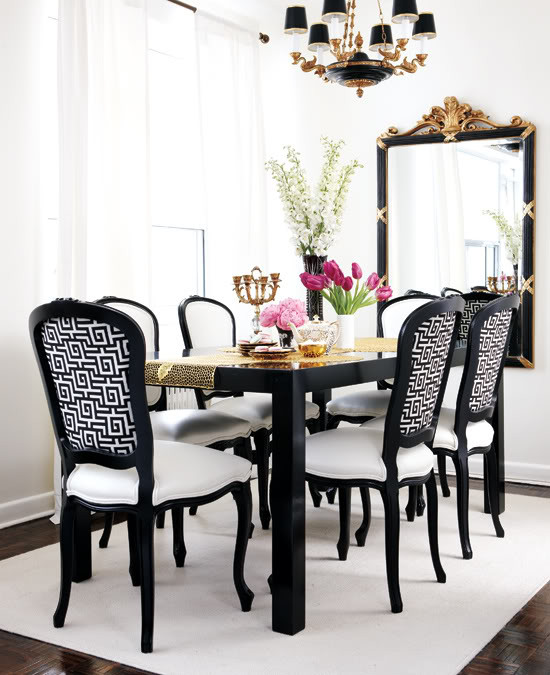 Best ideas about Black Dining Room Chairs . Save or Pin Black and White Dining Room French dining room Style Now.