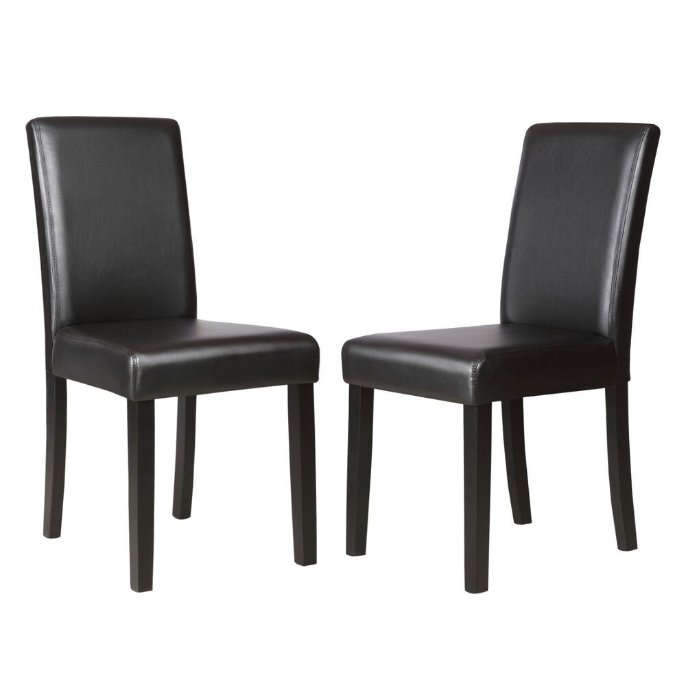 Best ideas about Black Dining Room Chairs . Save or Pin Set of 2 Kitchen Dinette Dining Room Chair Elegant Design Now.