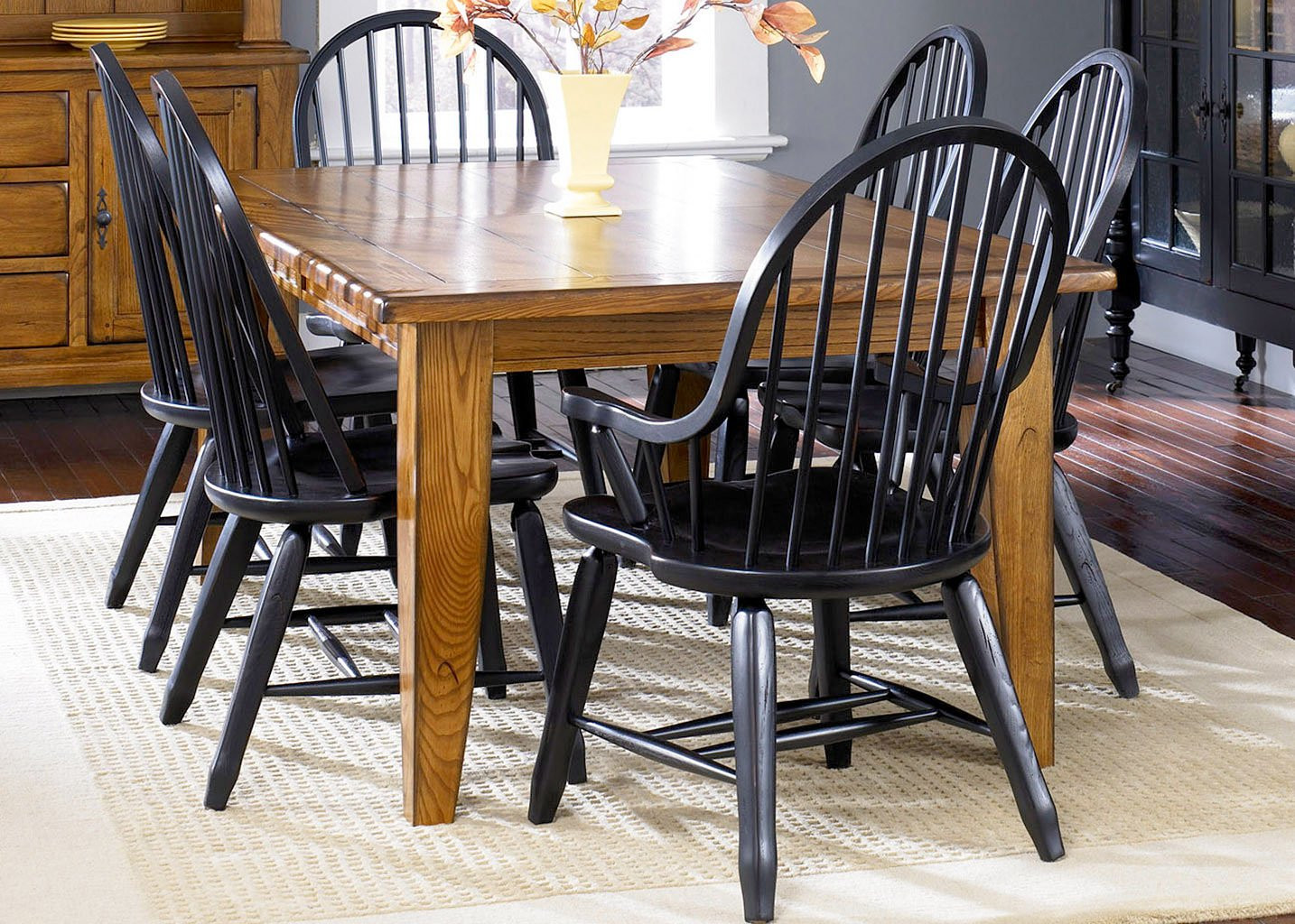 Best ideas about Black Dining Room Chairs . Save or Pin Treasures Dining Room Set W Black Chairs Liberty Now.